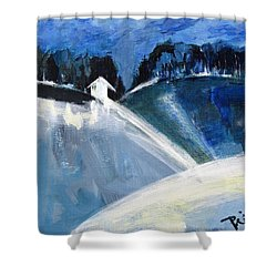 Hillside In Winter Shower Curtain