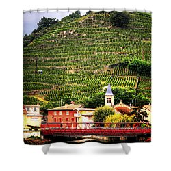 Shower Curtain featuring the photograph Hillside Vineyard France by Tom Prendergast