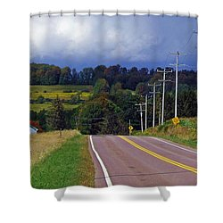 Hillside Ways Shower Curtain