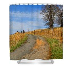 Hilltop Driveway Shower Curtain by Kathryn Meyer