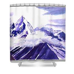 Himalaya Shower Curtain by Anil Nene
