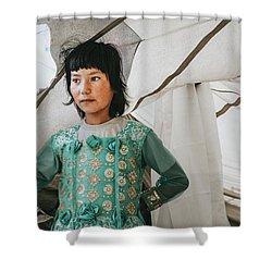 Himalayan Girl Shower Curtain