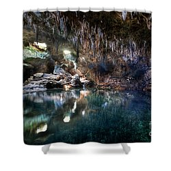 Shower Curtain featuring the photograph Hinagdanan Cave by Yhun Suarez