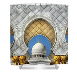 Hindu Temple Shower Curtain