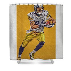 Hines Ward Pittsburgh Steelers Art Shower Curtain