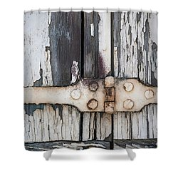 Shower Curtain featuring the photograph Hinge On Old Shutters by Elena Elisseeva