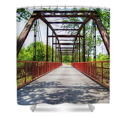 Hinkson Creek Bridge Shower Curtain
