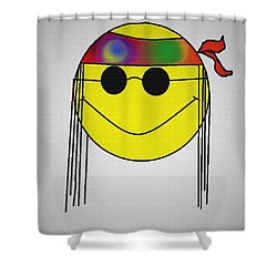 Hippie Face Shower Curtain by Bill Cannon