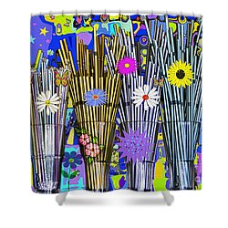 Hippie Hippie Straws Shower Curtain