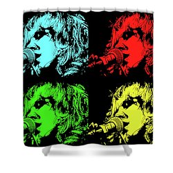 Hippie Memories Pop Art Shower Curtain