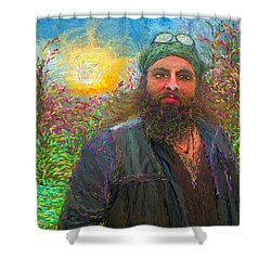 Hippie Mike Shower Curtain