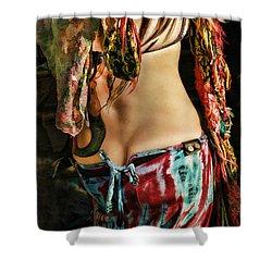 Hippy Back Shower Curtain by Blake Richards