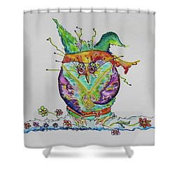 Hippy Owl- Vertical Format Shower Curtain