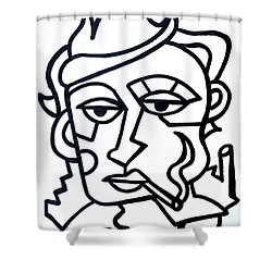 Hipster Painting  Limited Edition Print Shower Curtain