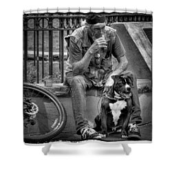 His Best Friend II Shower Curtain by David Patterson