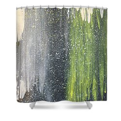 His World Shower Curtain by Cyrionna The Cyerial Artist