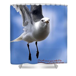 His Feathers Shower Curtain