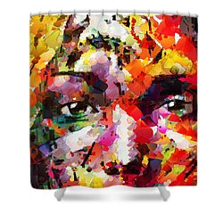 His Last Memory Shower Curtain by Sir Josef - Social Critic -  Maha Art