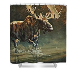 His Majesty Shower Curtain by Mia DeLode