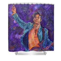 His Purpleness - Prince Tribute Painting - Original Art Shower Curtain