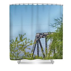 Historic Agua Fria River Railroad Bridge Shower Curtain by Anne Rodkin
