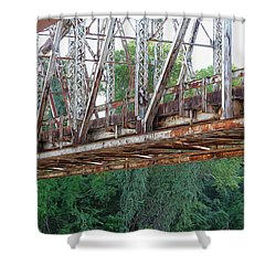 Historic Brazoria Bridge Shower Curtain