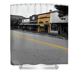 Historic Buford In Selective Color Shower Curtain