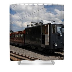 Historic Cogwheel Train  Shower Curtain
