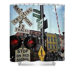 Historic Depot Town Ypsilanti Mi Shower Curtain