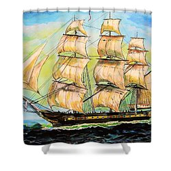 Historic Frigate United States Shower Curtain