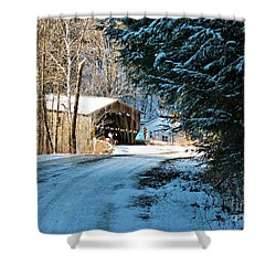 Historic Grist Mill Covered Bridge Shower Curtain