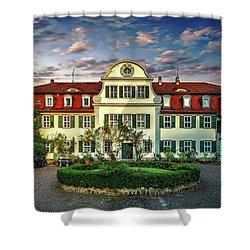 Historic Jestadt Castle Shower Curtain by Anthony Dezenzio