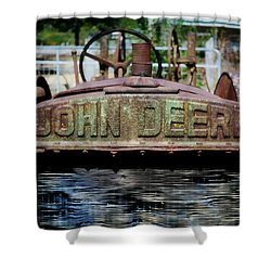Shower Curtain featuring the photograph Historic John Dere by Marty Koch