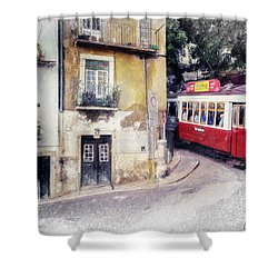 Historic Lisbon Tram Shower Curtain