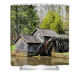 Historic Mabry Mill In Early Spring Shower Curtain