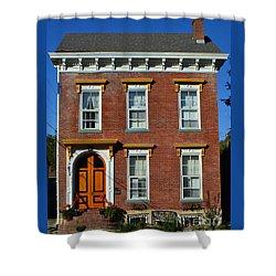 Historic Madison Row House Shower Curtain