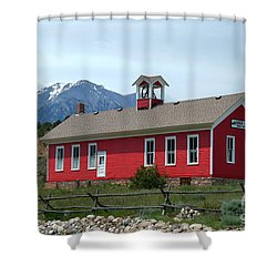 Historic Maysville School In Colorado Shower Curtain