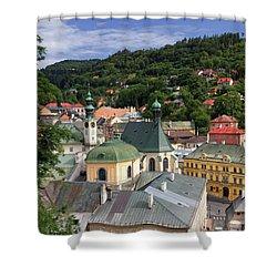 Historic Mining Town Banska Stiavnica, Slovakia Shower Curtain