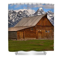 Historic Moulton Barn Shower Curtain by Adam Jewell