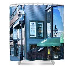 Shower Curtain featuring the photograph Historic Newport Buildings by Nancy De Flon