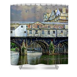 Historic Pulteney Bridge Shower Curtain