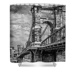 Historic Roebling Bridge Shower Curtain by Diana Boyd