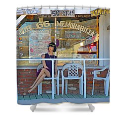 Historic Route 66 Memorabilia Shower Curtain