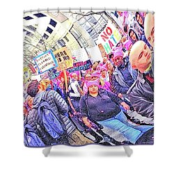 Historic Times Shower Curtain