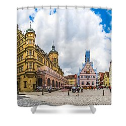 Historic Townsquare Of Rothenburg Ob Der Tauber, Franconia, Bava Shower Curtain