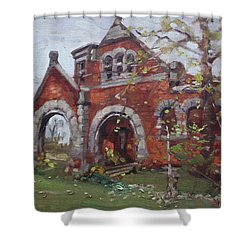 Historic Union Street Train Station In Lockport Shower Curtain