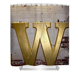 Historic W Shower Curtain