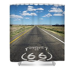 Historica Us Route 66 Arizona Shower Curtain