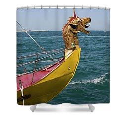 Historical Yacht Shower Curtain by Irina Afonskaya