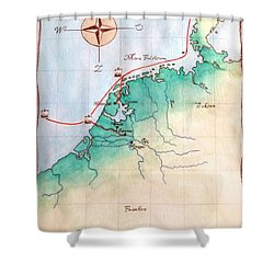 Magna Frisia- Frisian Kingdom Shower Curtain by Annemeet Hasidi- van der Leij